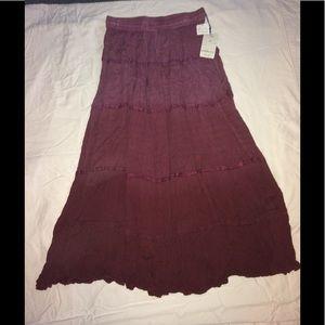 Sacred threads maxi skirt